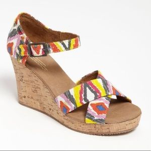 Toms Colorful ikat cenna Cork Sandal